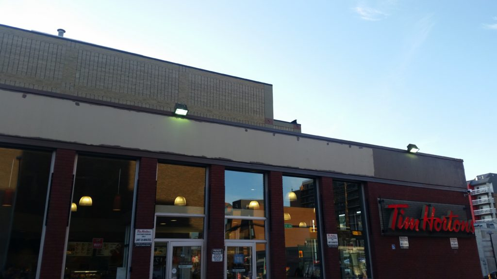 Exterior commercial painting tim hortons canadian pros painting trusted calgary painters Exterior commercial painting