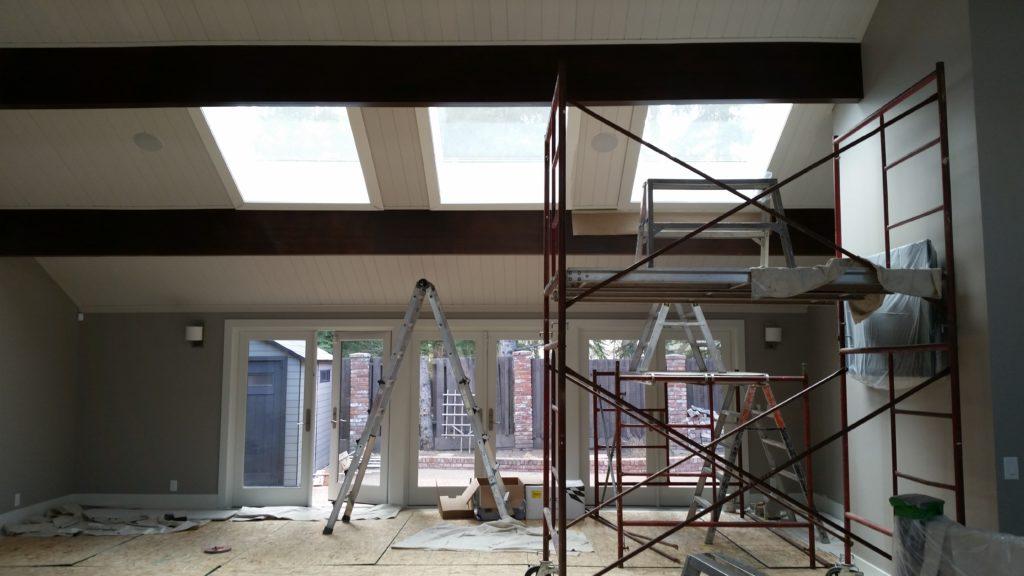 Scope Of Work Stain Walnut Beams Repainting Filed Under Ceiling Painting